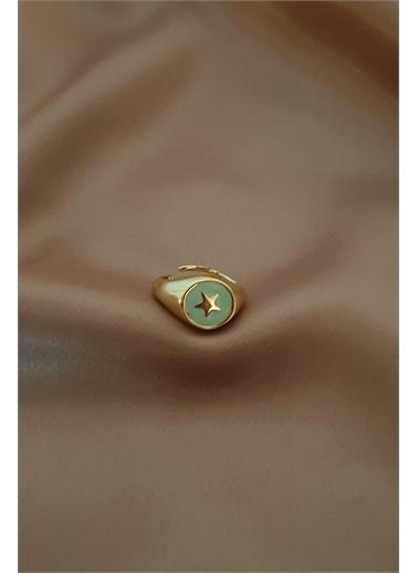 Bej takı Bijuteri Yüzük Yeşil
